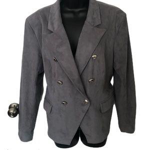 Vakko for INC faux suede gray blazer - size XL